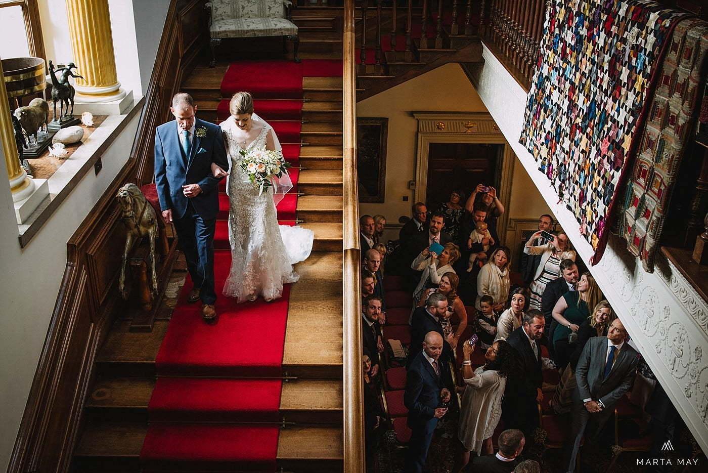 indoor ceremony Walcot Hall